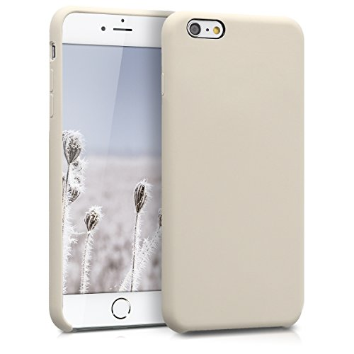 kwmobile TPU Silicone Case for Apple iPhone 6 Plus / 6S Plus - Soft Flexible Rubber Protective Cover - Beige Matte