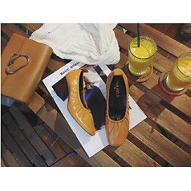 Cómodo y elegante soporte de zapatos de las mujeres pisos comodidad Casual negro marrón de piel de cerdo rosa marrón claro