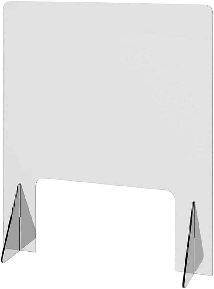 Qianduoduo888 /Écran De S/écurit/é De Comptoir /Écran De S/éparation Entre Employ/és Et Clients Size : 40 * 40cm Panneau Separation Bureau Protection Plexiglass Comptoir