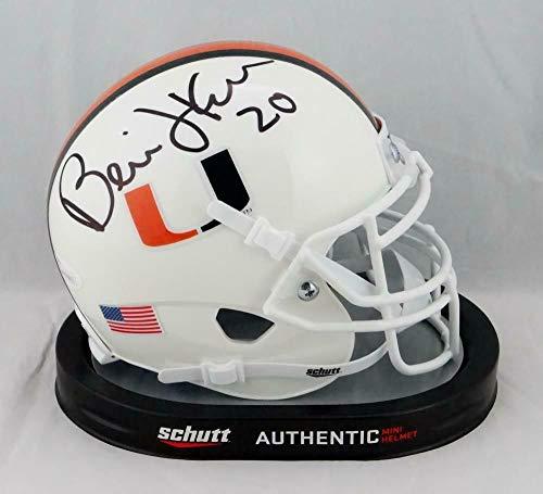 Bernie Kosar Autographed Signed Miami Hurricanes Schutt Mini Helmet - Memorabilia JSA Authentic Black