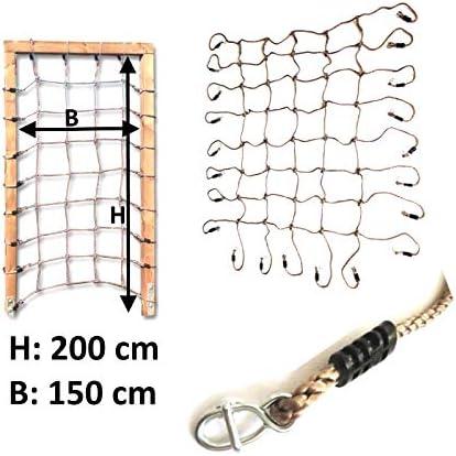 H2i - Red de escalada para niños (200 x 150 cm, para marco ...