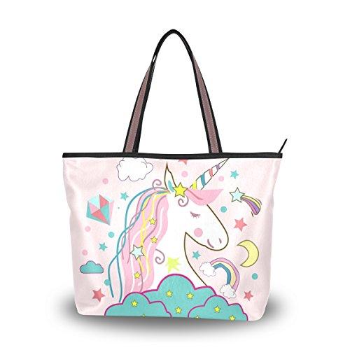 Icon Womens Laptop Bag - Tote Top Handle Laptop Shoulder Bag Unicorn Icon Handbag for Women - 17.7x13x5.1in - by Top Carpenter