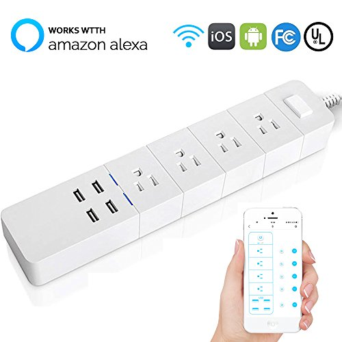 WiFi Smart Power Strip, Uni home Surge Protecto...