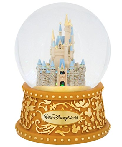 Walt Disney World Castle Musical Snowglobe A Dream is a Wish Your Heart -