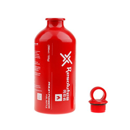 Generic New Outdoor Camping Travel Picnic Gas Oil Fuel Bottle Motorcycle Emergency Petrol Storage Can - Red, 500ml by Generic