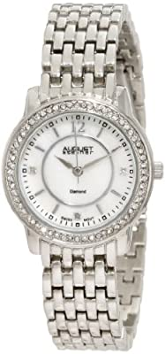 August Steiner Women's ASA827SS Dazzling Diamond Bracelet Watch