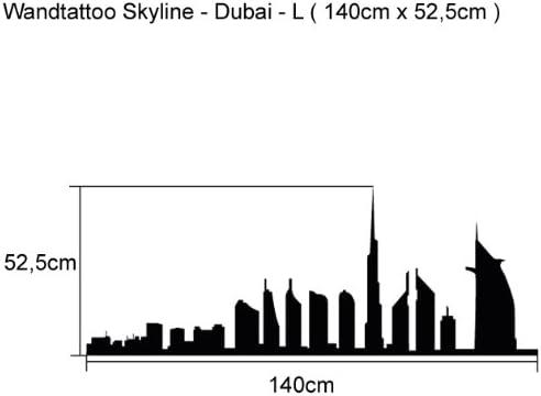 Tatuaje de pared diseño de edificios de L - 140 cm x 52,5 cm ...