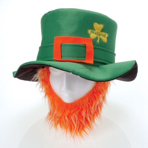 One St. Patty's Day Leprechaun Hat With Beard