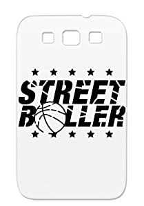 TPU Durable For Sumsang Galaxy S3 Ball Slam Dunk Basketball Dunking Street Defense Game Baller Play Streetball Basketball Sports Grunge Wq1 Black Protective Case