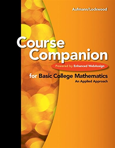 Course Companion for Basic College Mathematics: Powered by WebAssign