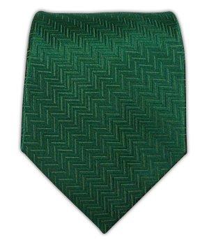 The Tie Bar 100% Woven Silk Solid Herringbone Hunter Green Tie