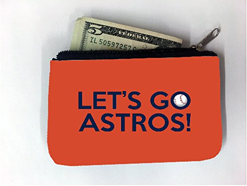 Let's Go Houston Astros World Series Coin Purse Change Holder by Debbie's Designs