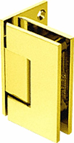 C.R. LAURENCE GEN544GP CRL Gold Plated Geneva 544 Series Wall Mount Offset Back Plate Hinge - Gold Plated Geneva Series