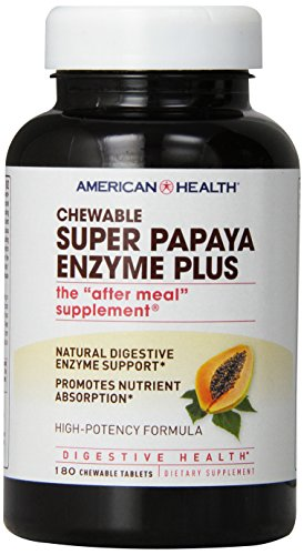 American Health Probiotic Enzyme Plus, Super Papaya, 180 Count