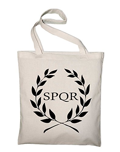 In Crest Banner And Tasche Bag Yellow Natural Logo Jute Styletex23bagspqr8 Rome Spqr yellow Fabric Bag Cotton Cwq5IFU
