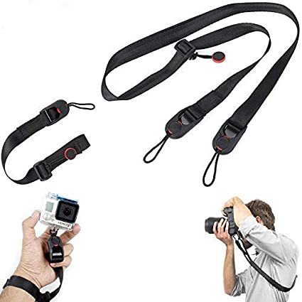 Camera Strap For GoPro DSLR Quick Release Shoulder Leash Nylon Sling ABS Buckle