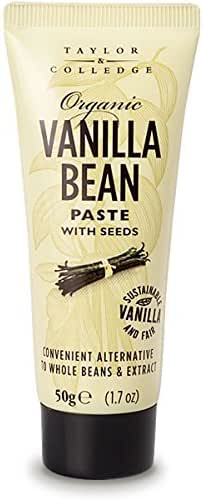 Taylor & Colledge Paste Tube, Organic Vanilla, 1.7 Ounce