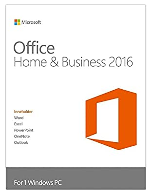 Microsoft Office Home and Business 2016 1 PC used; No Disc