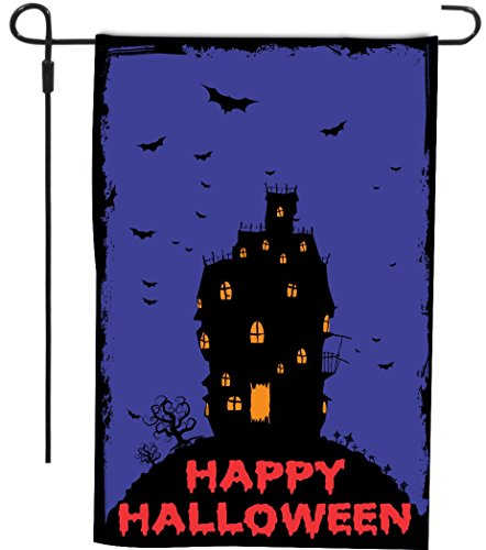 Rikki Knight Happy Halloween Haunted House with Orange and P