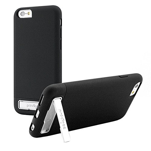 Prodigee [Kick Slider] Black for iPhone 6 Plus + and iPhone 6s Plus + Cell Phone Case with Kick Stand Video Dual Orientation