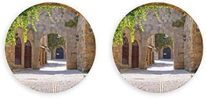 Abrebotellas redondos de la calle italiana / Imanes de nevera Sacacorchos de acero inoxidable Etiqueta magnética 2 piezas