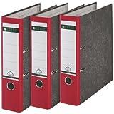 Leitz 310305025 - Juego de 3 archivadores (A4), color rojo y gris