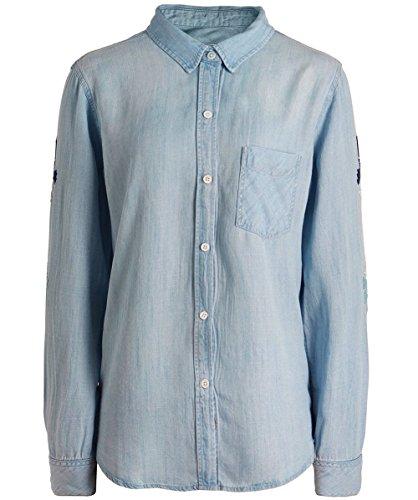 Rails Mujeres camisa de mezclilla bordado cheyanne Azul Azul