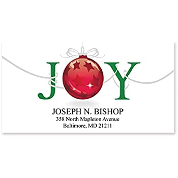 amazon com christmas joy sheeted holiday address labels 48