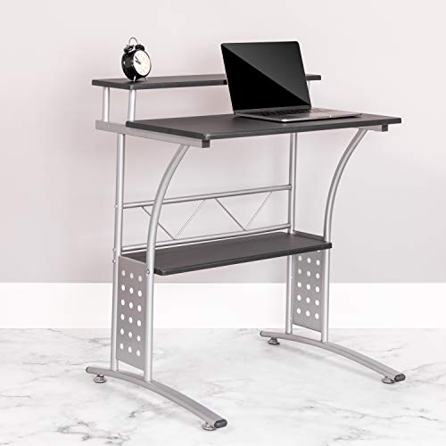 Flash Furniture Clifton Black Computer Desk, NAN-CLIFTON-BK-GG