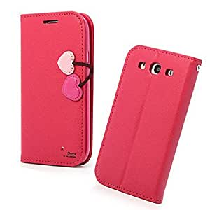 Cherry Style PU Leather Full Body Case for Samsung Galaxy S3 I9300 (Assorted Colors) , Pink
