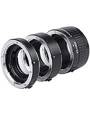 VILTROX Enfoque automático Tubo de extensión macro 12 mm, 20 mm, 36 mm Montaje de metal para Canon EF EF-S Lente DSLR Cámara 760D 700D 80D 70D 5DII 5DIII 1300D 1500D