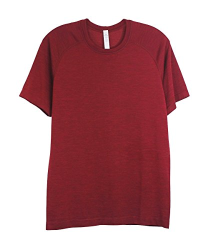 Lululemon Mens Caliente Deep Rouge Metal Vent Tech Short - Shirt Running Lululemon