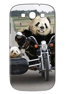 Case Fun Samsung Galaxy S3 (I9300) Case - Vogue Version - 3D Full Wrap - Panda and Motorbike