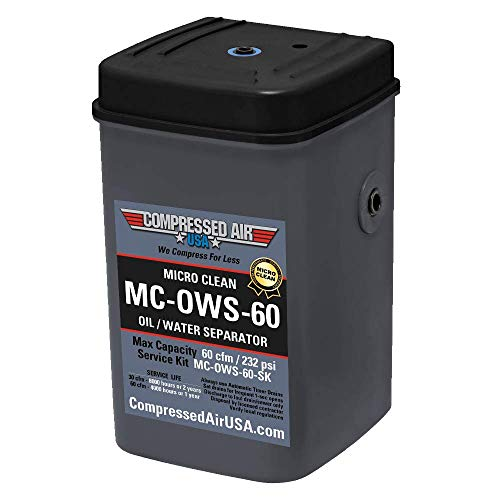 60 CFM Oil Water Separator Box, Self-Contained Air Compressor Condensate Treatment, Removes Oil from Compressed Air Condensate to Safely Drain Clean Water, MICRO CLEAN by CompressedAirUSA