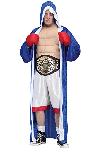 Boxing Costume For Men - Fun World Big Champ Adult Costume-Standard