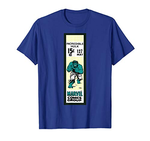 Marvel The Incredible Hulk Comics Group Vintage Ticket Label T-Shirt (The Incredible Hulk The Television Series Ultimate Collection)