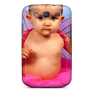 Galaxy S3 Hard Back With Bumper Silicone Gel Tpu Case Cover Cute Baby Girl