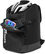 KIRIOUL Ski Boot Bag with Padded Protection, Skiing and Snowboarding Travel Backpack/Luggage with Waterproof E