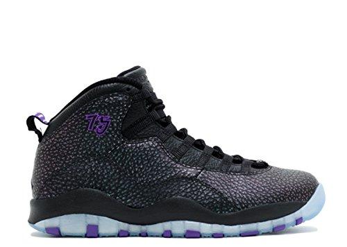 Air Jordan Scarpe 10 Retro Da black Basket black Uomo Nike Nero Purple Fierce negro d6gwq1d
