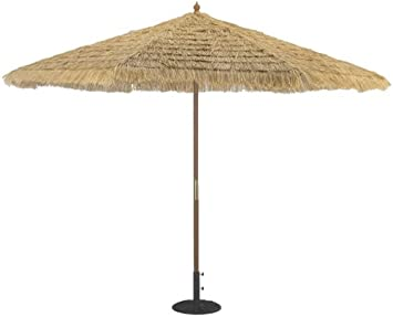 Captivating TropiShade 11 Foot Thatched Market Umbrella