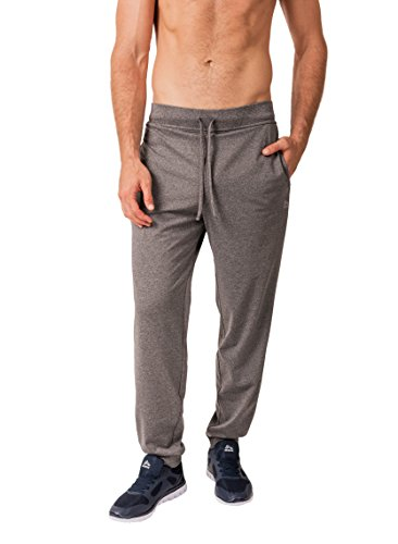 RBX Active Men's Lightweight Fleece Tapered Drawstring Sweatpants Charcoal M