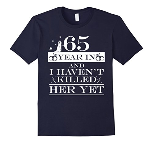 Mens 65th Wedding Anniversary Gifts For Husband. Couple T shirts Large Navy
