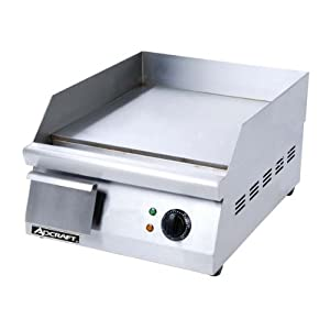 Adcraft GRID-16 16-Inch Countertop Griddle, Stainless Steel, 120v, NSF