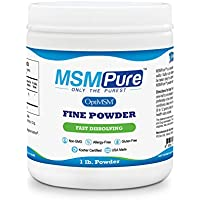 Kala Health MSMPure Fine Powder, Fast Dissolving Organic Sulfur Crystals, 99% Pure Distilled MSM Supplement, Made in USA, 1 lb