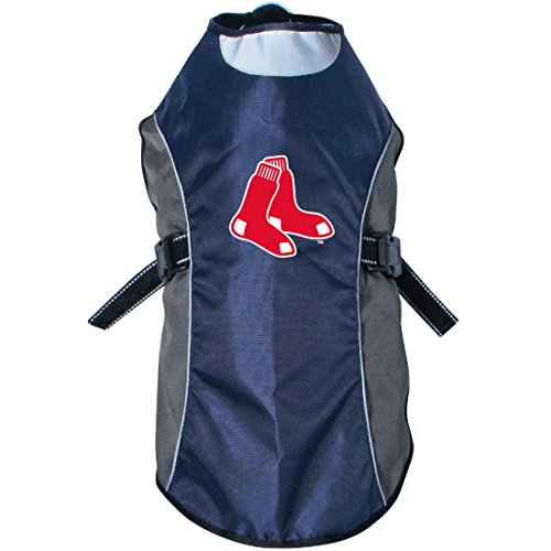 (Hunter MLB Boston Red Sox Reflective Pet Jacket, Small, Black or Navy)