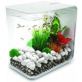 biOrb FLOW 15 Aquarium with LED Light - 4 Gallon, White