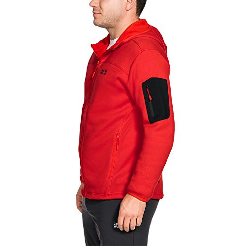 Jacket Full Fleece Castle Fiery Wolfskin Jack Rock Mens Midweight Red Hooded Zip xaFFqZHwz