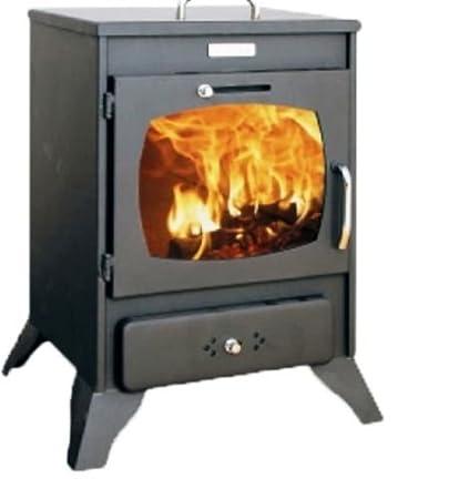 Estufa de leña Log quemador de combustible sólido pequeño horno kupro - Valenciana - 8 kW: Amazon.es: Bricolaje y herramientas