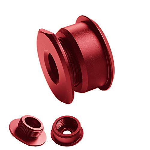 DEWHEL Red JDM Aluminum Manual Shift Cable Bushings Performance Upgrade For Ford FOCUS ST & RS 2013-Present 6 speed manual transmissions ()