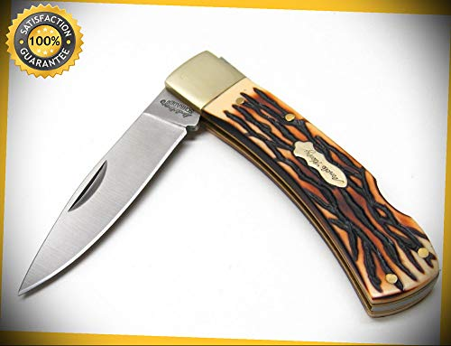 (Uncle Henry Staglon Bruin Lockback Folder Folding Pocket Sharp Knife 5UH perfect for outdoor camping hunting)